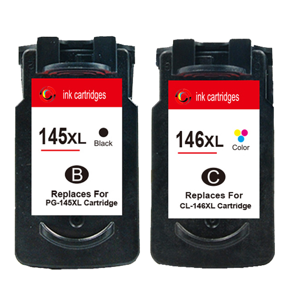 Hisaint listing Hot PG-145 CL-146 ink cartridge For Canon PG145 CL146 PIXMA MG2410 MG2510 Printer PG145XL CL146XL Cartridges image
