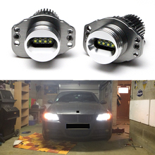 2x Halo Angel Eyes Bulbs For BMW Headlights E90 / E91 7000K Xenon White Led Marker Halo Light 2006-2008 Pre-LCI