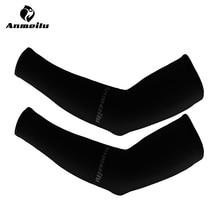 ANMEILU 2pcs Cycling Sleeves Arm Warmers Breathable UPF40+ Meryl Running/Basketball/Baseball Arm Sleeve Manguitos Ciclismo Brazo