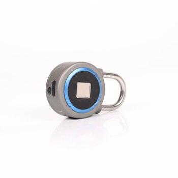Porte Dell'armadio In Acciaio Inossidabile | Impermeabile Bluetooth Smart Blocco Delle Impronte Digitali Di Sicurezza Elettronica IOS Android Lucchetto Per Zaino Bagagli Armadio Porta Dell'armadio
