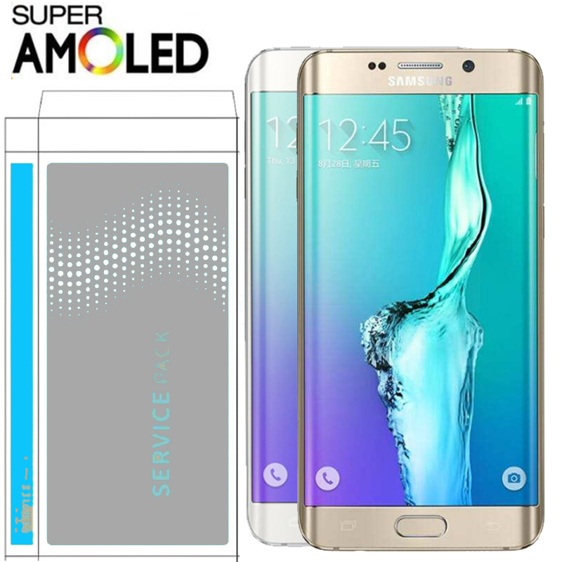 ORIGINAL 5.7'' Display With Burn Shadow Ghost Image LCD With Frame For SAMSUNG S6 Edge Plus G928 G928F Touch Screen Digitizer