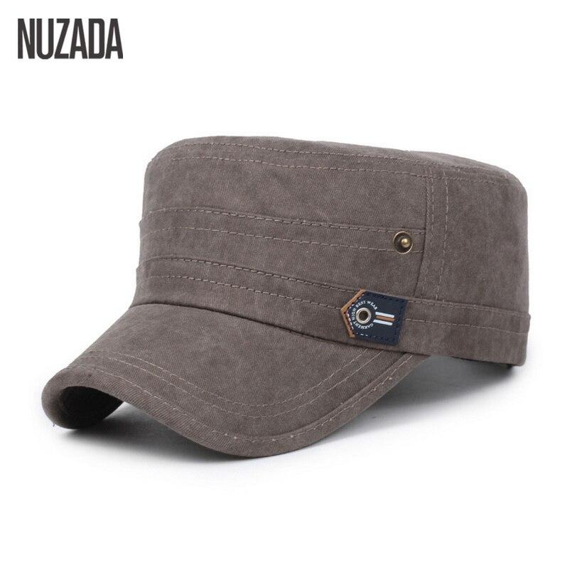 Märke NUZADA 2017 Cotton Unisex Män Kvinnor Flat Top Cap Gör - Kläder tillbehör - Foto 4