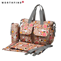 WORTHFIND Multifunctional Bolsa Maternidade Baby Diaper Bag Baby Nappy Bag Mummy Maternity Bag Lady Handbag Messenger Bag Diaper
