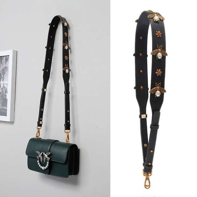 62a12eed06f US $17.97 |Fashion Gold Bee Leather Strap Handbag Accessories Replacement  Wide Shoulder Bag Straps Women Design Corssbody Bag Strap Belts-in Bag  Parts ...