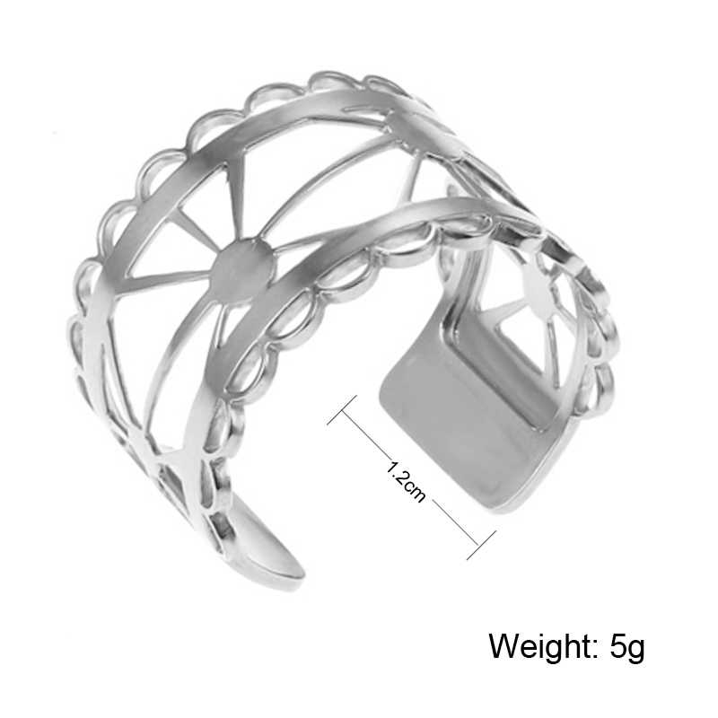 Cremo Fashion Argent Open Rings For Women Original Handmade Yoiumit stainless steel Bague Femme Interchangeable Leather Jewelry