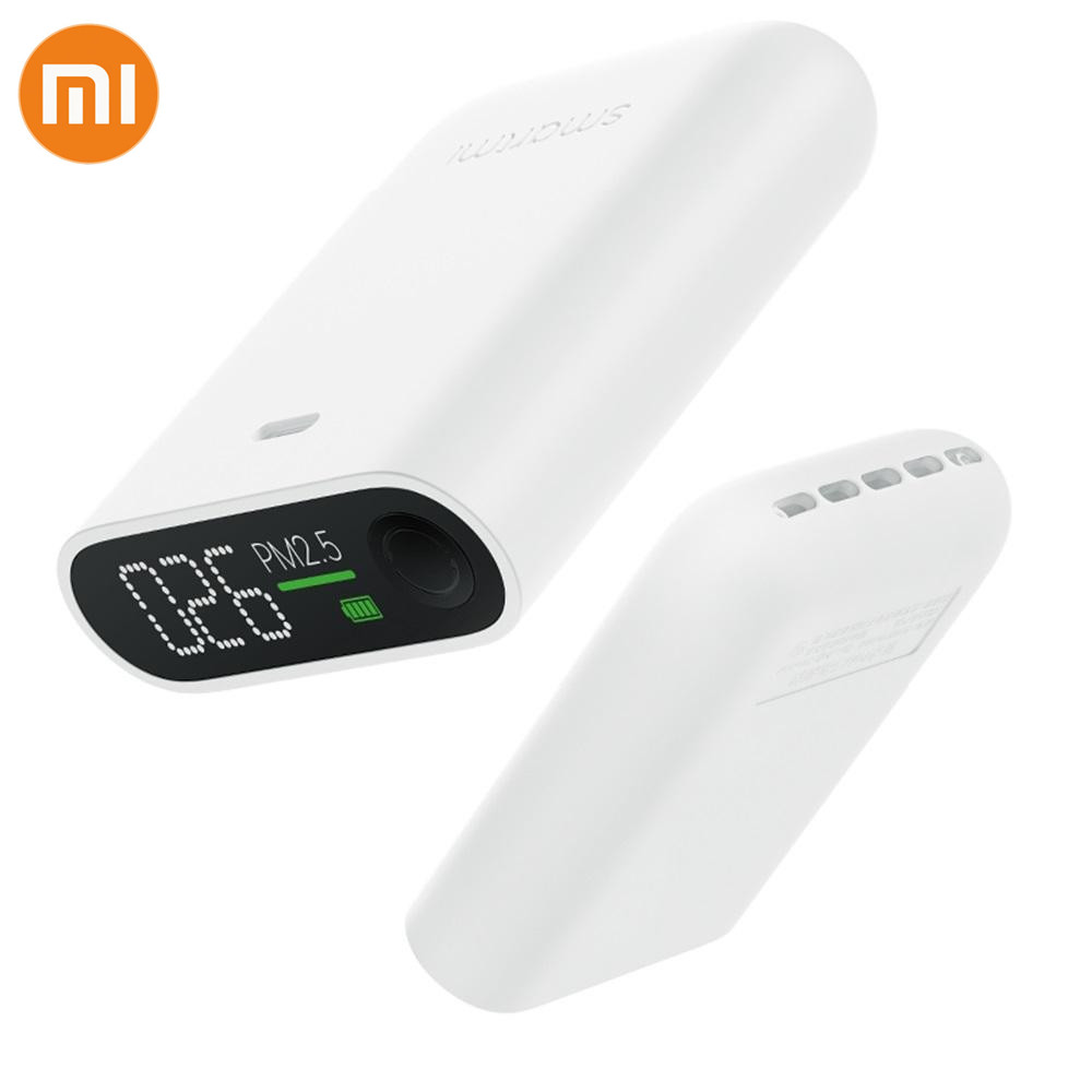 NEW Xiaomi Smartmi PM2.5 Air Detector Mini Portable Sensitive Mijia Air Quality Monitor For Home Office Hotel Mi LED Screen