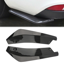 2PCS Universal Car Auto Carbon Fiber Rear Bumper Side Fin Splitters Diffuser Decorative Protection Bright