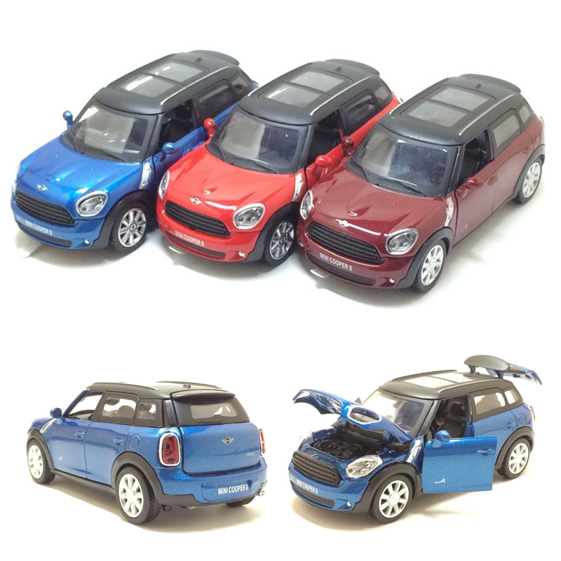 1:32 Scale MINI COOPERS S Diecast Alloy Metal Car Model Collection Model With Pull Back Car For Children Toys ...
