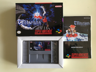 16Bit Games ** Terranigma ( USA Version!! Box+Manual+Cartridge!! ) 64 bit games castlevania legacy of darkness pal version box manual cartridge