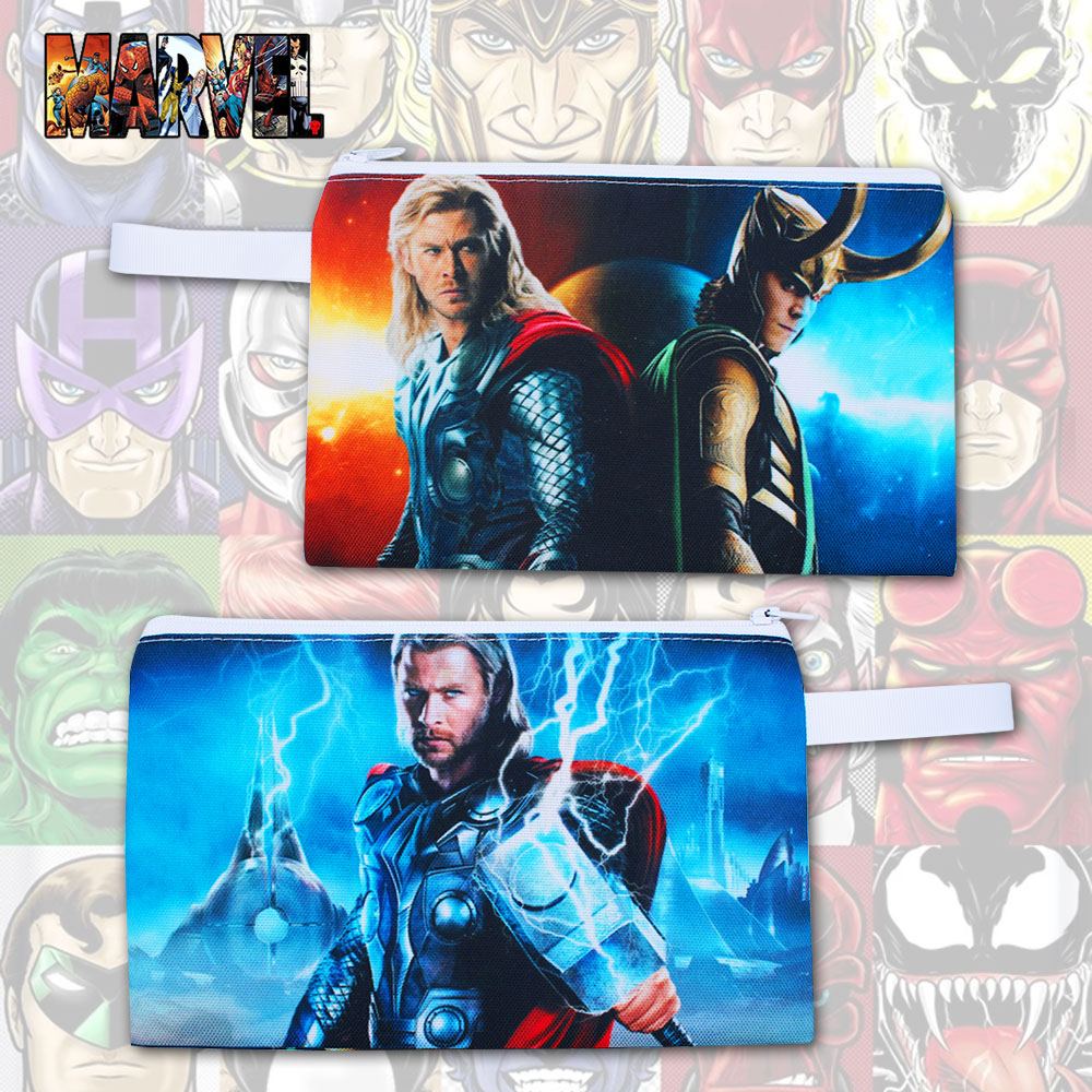 OHCOMICS Hot Fashion For Marvel Avengers Infinity War Fans Thor Canvas Pen Pencil Bag Pencilcase Box Work Study Costume Gift