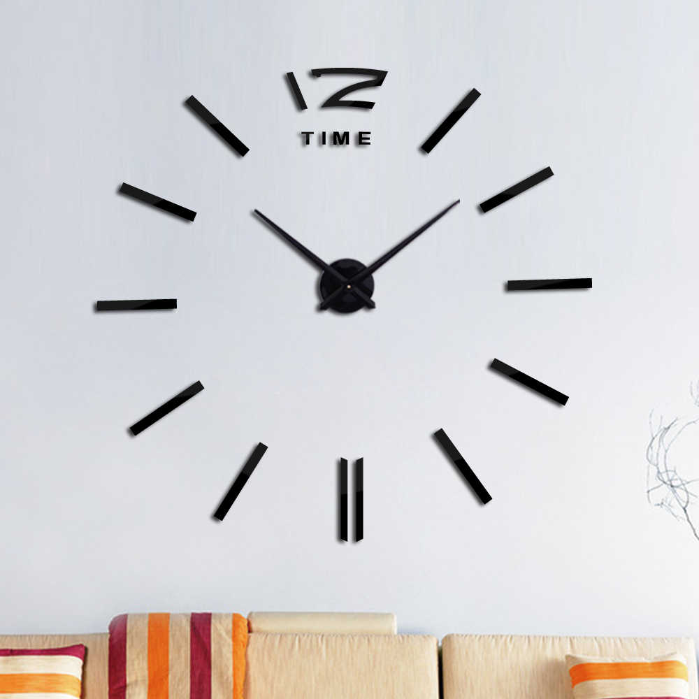 Understated luxury  Circular home decoration Corridor wall stickers mirror effect Modern style  diy quartz wall clock still life