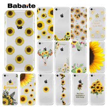 Babaite sunflower daisy  DIY Printing Drawing Phone Case cover Shell for Apple iPhone 7 8 6 6S Plus X XS MAX 5 5S SE XR Cases