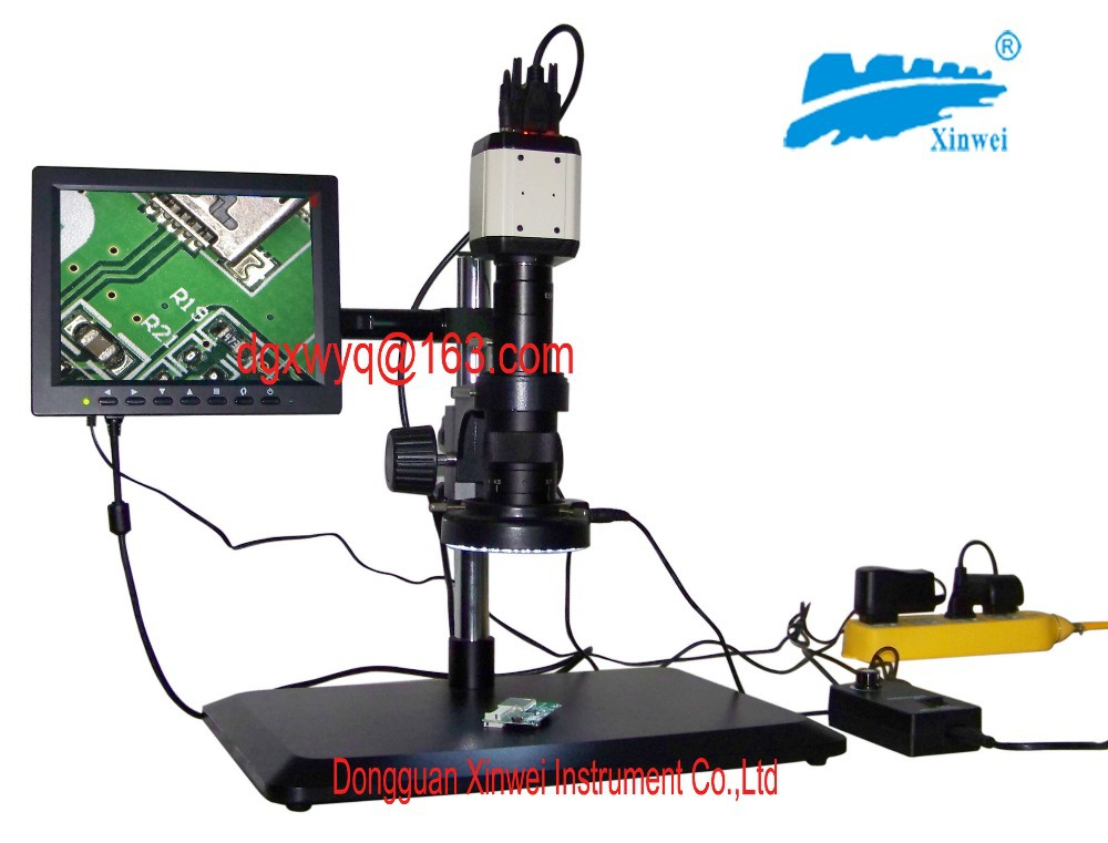 Microscope vidéo Hd avec plusieurs interfaces de sortie d'interface/VGA, USB et CVBS/livraison rapide!