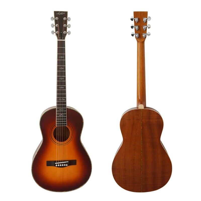 Aiersi marque Sunburst Réplique 1895 O-28 Voyage Salon Acoustique Salon Guitare Avec Étui à Guitare