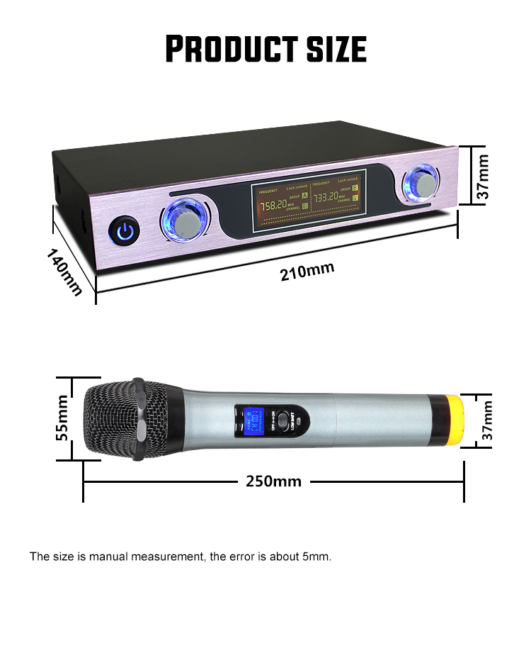 Image 4 - UHF Wireless Microphone with LED Display MU 589 for Speaker Studio Recording TV Box Audio Mixer DVD Player School Teaching-in Microphones from Consumer Electronics