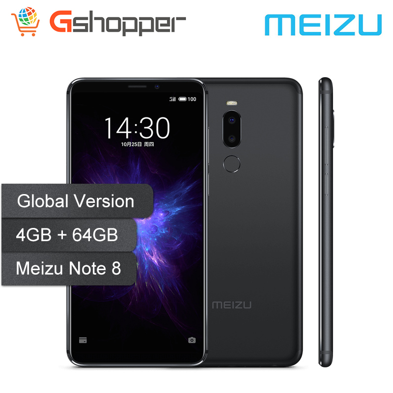 "Global Version Meizu Note8 4GB 64GB Smartphone Snapdragon 632 Octa Core 5.99"" HD Full Screen 12MP+5MP Real Camera Fingerprint"