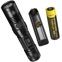 NITECORE EC20 Flashlight 18650 Rechargeable Battery Charger Waterproof Sleek Tubular Body Outdoor Portable Torch Free Shipping