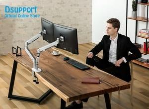 Image 5 - Soporte de escritorio para montaje de Monitor de doble brazo, soporte de Monitor de aluminio totalmente ajustable Monitor de resorte de Gas montaje de TV para OZ 2 de 17 32