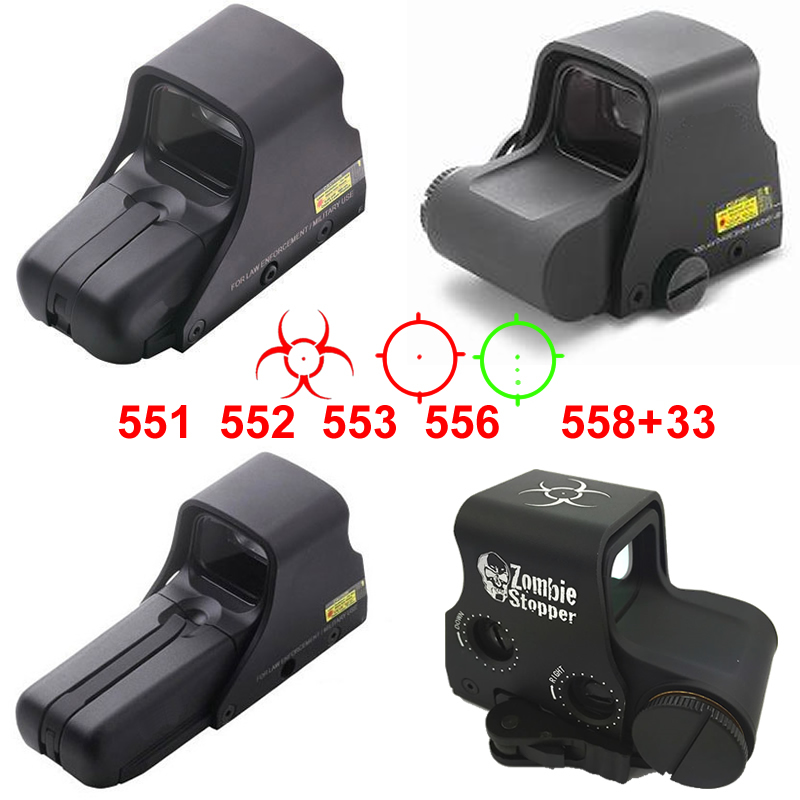 551 552 553 556 558+33 Red Green Dot Holographic Scope Red Sight Hunting Red Dot Reflex Sight Weapon riflescope With 20mm Mount samsung rs 552 nruasl