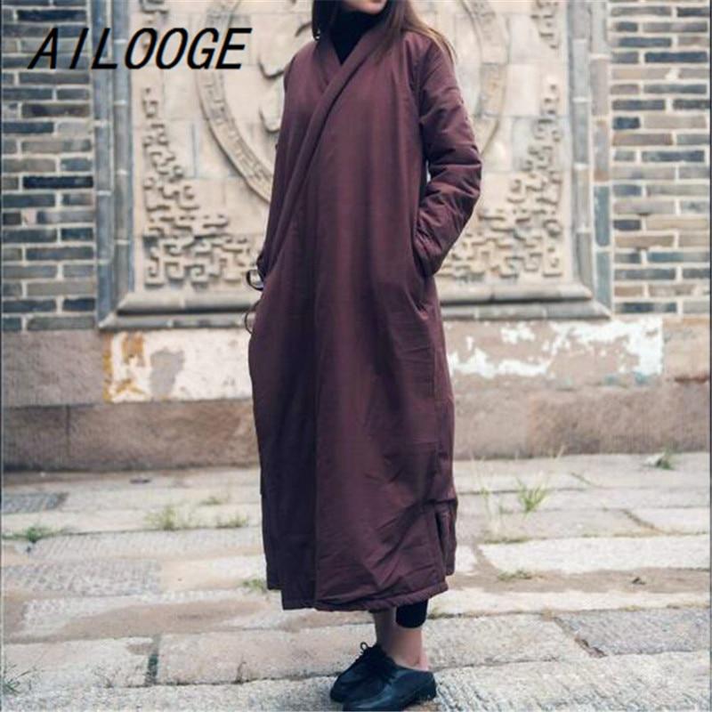 Allentato Parka Blue Vestaglie Black Ailooge Cotone Cappotti red dark Caldo  Delle 4 Biancheria khaki Vintage Vestiti 2018 Di Addensare Casual Colore  Donne ... 5359a2a46c63
