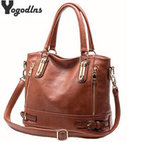 New Arrival Women Leather Shoulder Bag Sac a Main Ladies Messenger Bag Large Capacity Female Casual Handbags Tote