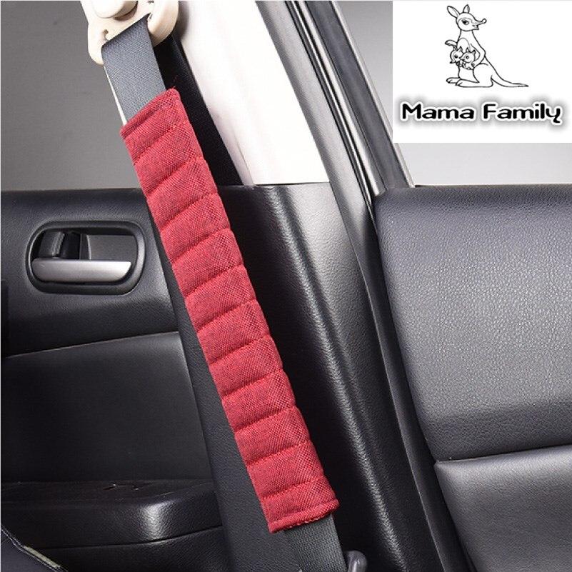 Flax Car Seat Belt Pad Long Linen Car Seat Belt Shoulder