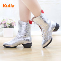 New authentic dance shoes women's soft bottom autumn and winter dancing shoes sailor shoes breathable modern square dance boots