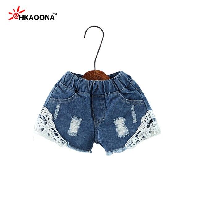1b851540c € 6.18 |Los Bebés del Verano Del borde Del Cordón Pantalones Cortos de  Mezclilla Jeans Shorts de Encaje para Las Niñas Vaquero Cortos Vaqueros de  ...