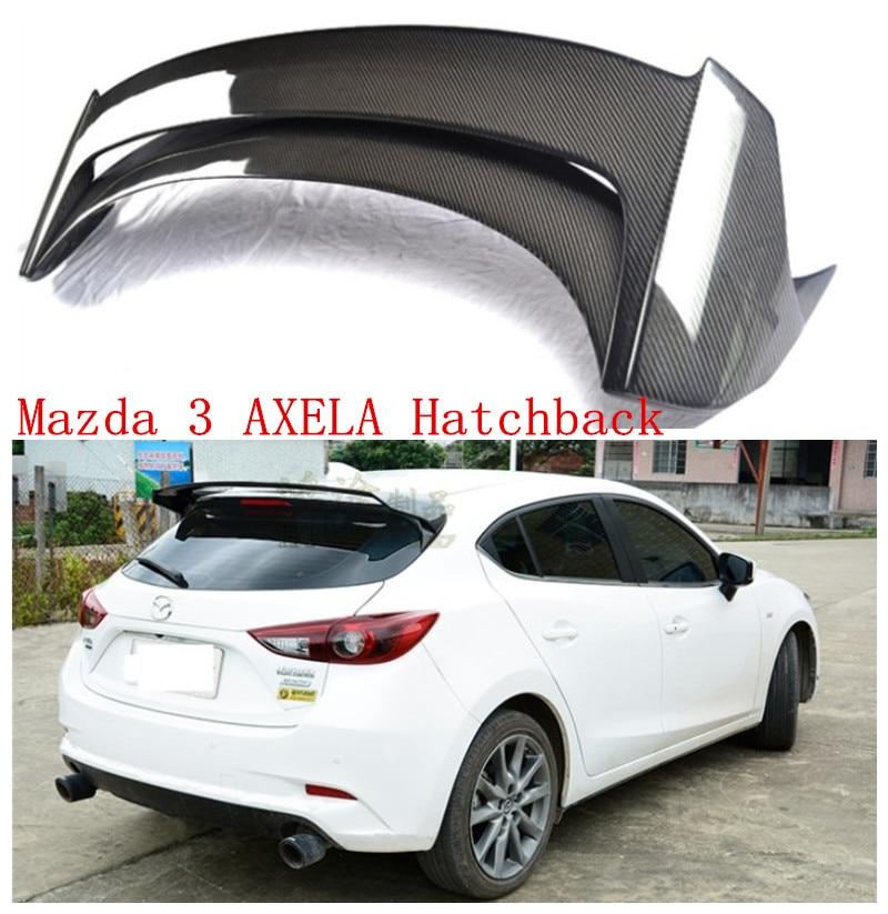 Auto Spoiler Per Mazda 3 AXELA Berlina 2014-2018 Alettone posteriore In fibra di Carbonio In Resina ABS Spoiler Auto di Alta qualità accessori