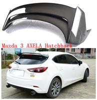 Auto Spoilers For Mazda 3 AXELA Hatchback 2014 2018 Rear Wing Carbon fiber ABS Resin Spoiler High quality Car Accessories