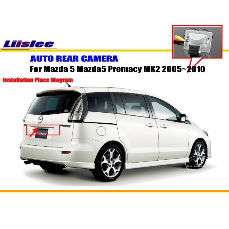Liislee Автомобильная камера заднего вида для Mazda 5 Mazda5 Premacy MK2 2005~ 2010/Обратный Камера/NTST PAL/номерные знаки для мотоциклов лампа OEM