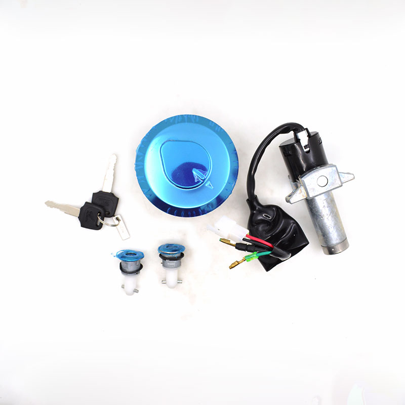 2088 Motorcycle Ignition Switch Lock Fule Gas Cap Cover Side Cover Lock 2 Keys For Honda