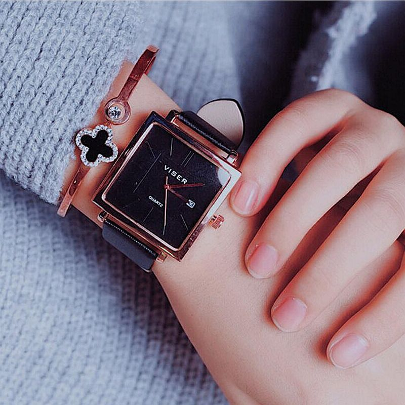 Women Watch Quartz Wrist Watch Retro square Design Casual Leather Band Ladies Bracelet Watches reloj mujer 2018 sunward relogio masculino saat clock women men retro design leather band analog alloy quartz wrist watches horloge2017
