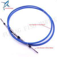 Boat Motor Steering System Outboard Engine ABA CABLE 10 GY Remote Control Throttle Shift Cable 10ft