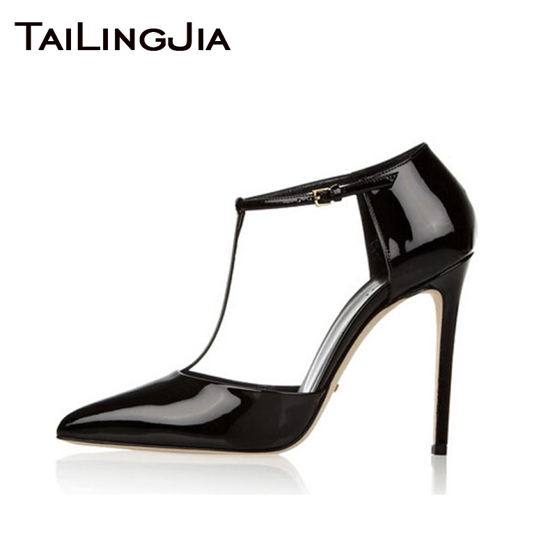 Black Pointed Toe High Quality Patent Leather High Heel Brand Women Pumps Woman Shoes Wedding Party Evening Dress Shoes Free Shi in Women 39 s Pumps from Shoes