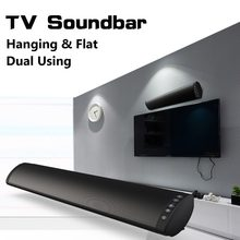 20W inalámbrico Bluetooth columna Soundbar TV música altavoz barra de sonido Home Theater TF USB soporte 3,5mm fibra RCA con montaje en pared(China)