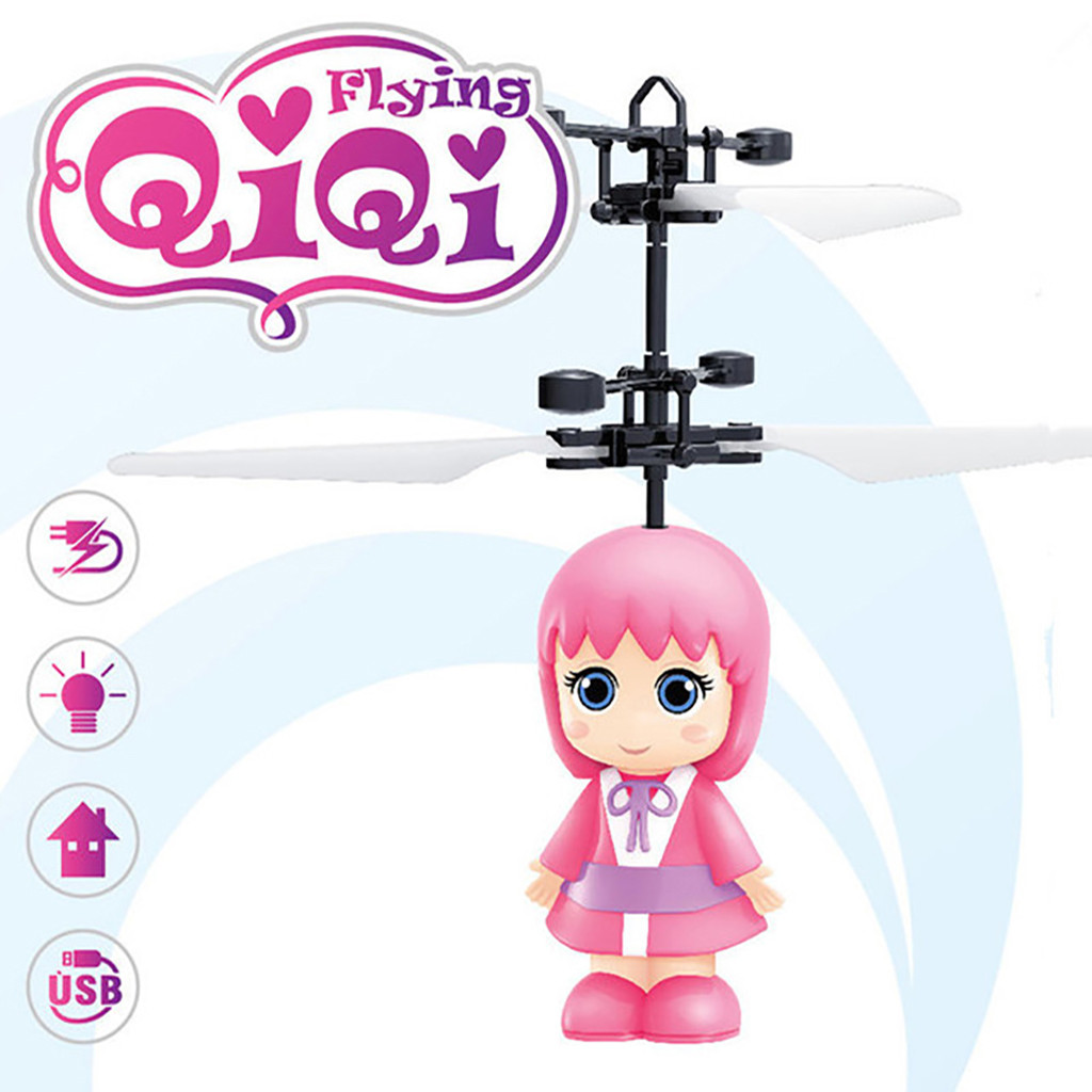 Briljant Txd-389 Nieuwe Mini Kleine Fee Inductie Helikopter Flash Kinderspeelgoed Mini Vliegtuigen Cartoon Rc Vliegtuigen Gift Voor Kids