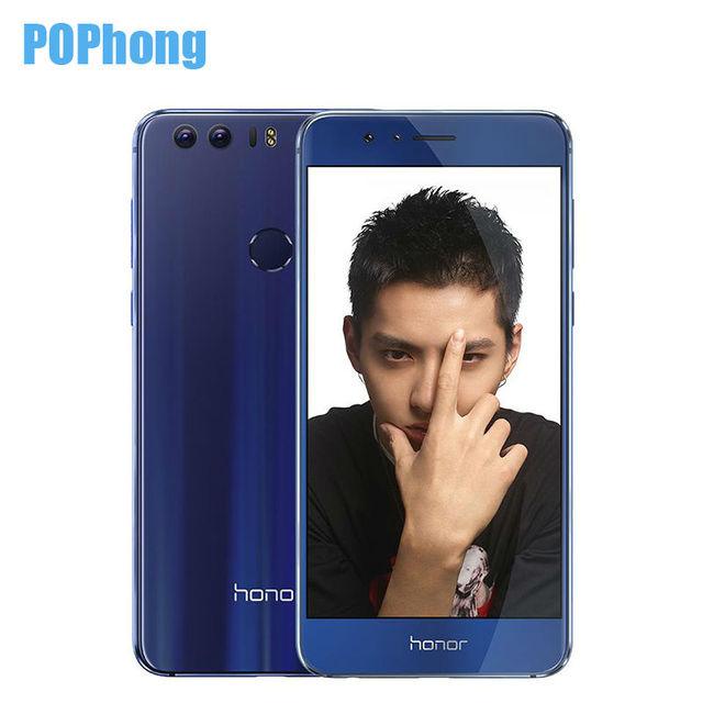 "Huawei Honor 8 OTA Update 4G LTE smartphone Dual side körper 5,2 ""NFC Dual Rückfahrkamera 12MP * 2 Octa-core Android 7.0 S"