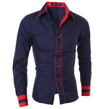 Мужская рубашка 2017 Camisa Masculina Homme