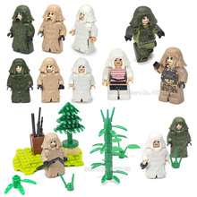 Pubg Military Camouflage Clothes Building Blocks Piece Lot Forces Soldier Figures Weapons Moc Toys For Children Gift  Legoinglys