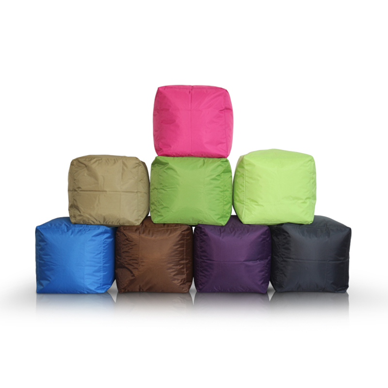 Highest Quality Cube Bean Bag Sofa Cover Chairs Waterproof Seat Living Room Gaming Chair Seat Bean Bag(filling is not included)-in Bean Bag Sofas from Furniture