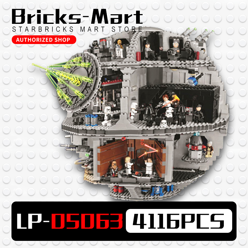 LEPIN 05063  Death Star 4016pcs Building Block Bricks Toys Kits Compatible with 75159 new lepin 05063 4016pcs star wars series death star building block bricks toys kits compatible legoed with 75159