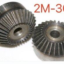 2M-30Teeth 1:1 углеродистая сталь коническая шестерня 90 градусов Коническая передача-Диаметр отверстия: 12 мм