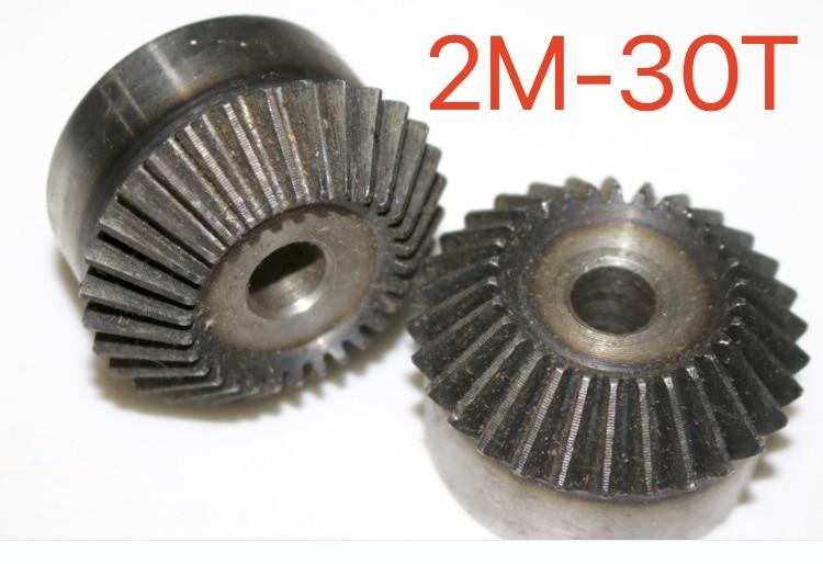 купить 2M-30Teeth 1:1 Carbon Steel Bevel Gear 90 Degrees Bevel Gear Transmission-Hole diameter:12mm по цене 1794.45 рублей