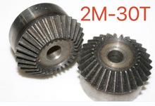 2M-30Teeth 1:1 Carbon Steel Bevel Gear 90 Degrees Bevel Gear Transmission-Hole diameter:12mm цена