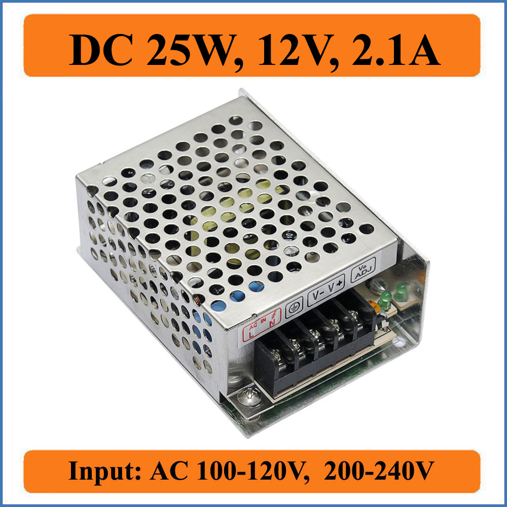 25W 12V 2 1A Switching Power Supply Universal power suply Input AC110 220V to DC 12V