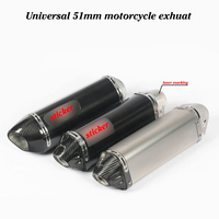 Universal Motorcycle Exhaust Pipe Escape For CBR500R Ninja 400 R3 F800GS for YAMAHA R6 Carbon Fiber Muffler with DB Killer
