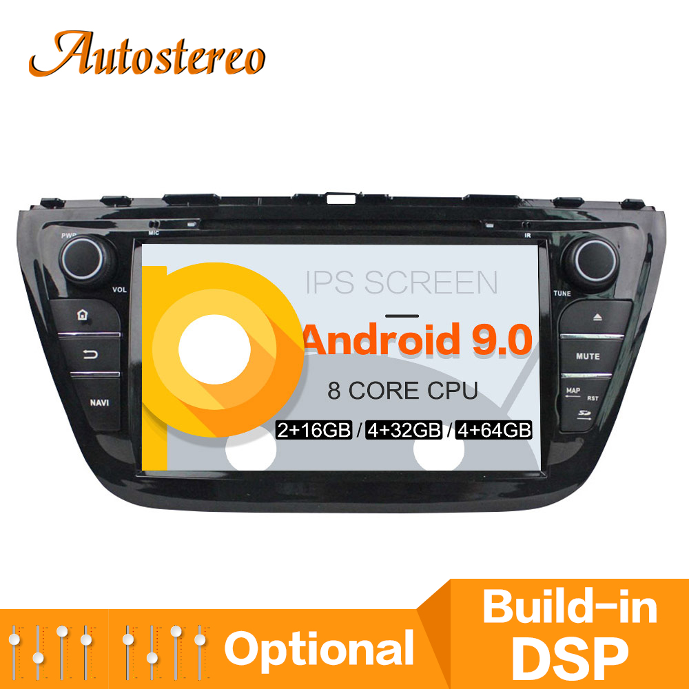 Max 64GB Android 9 Car GPS navigation For Suzuki SX4 S Cross 2014 multimedia car DVD