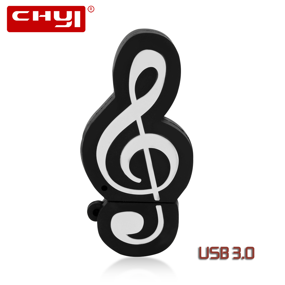 CHYI Musical Note USB Flash Drive Cartoon Pen Driver 8GB 16GB 32GB 64GB Pendrive USB 3.0 Stick Personality U Disk For Gift