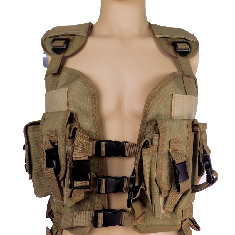 97 SEALs Tactical Vest Field can add water bladder Black Khaki Army Green Military - Equipment Store store
